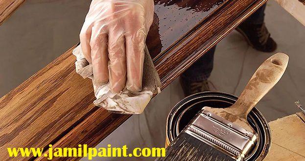 رنگ آمیزی وسایل چوبی