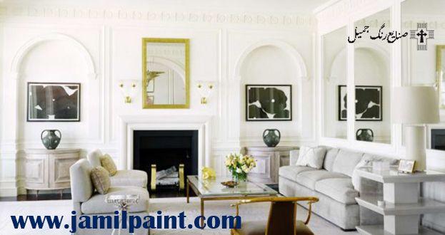 بهترین رنگ برای دیوار پذیرایی  رنگ مناسب دیوار پذیرایی